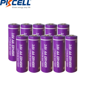 Image 1 - 10 sztuk Pkcell ER14505 baterii LiSCLO2 3.6V 2400mAh 14505 AA bateria litowa pierwsza bateria LR6 R6P