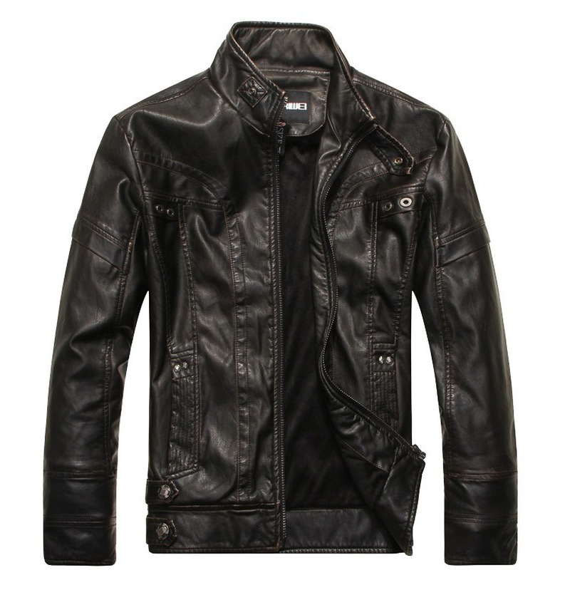 Mens Leather Jackets High Quality Classic Motorcycle Bike Cowboy Jacket Male Plus Velvet Thick Coats Brand Clothing M - 5XL SA-8