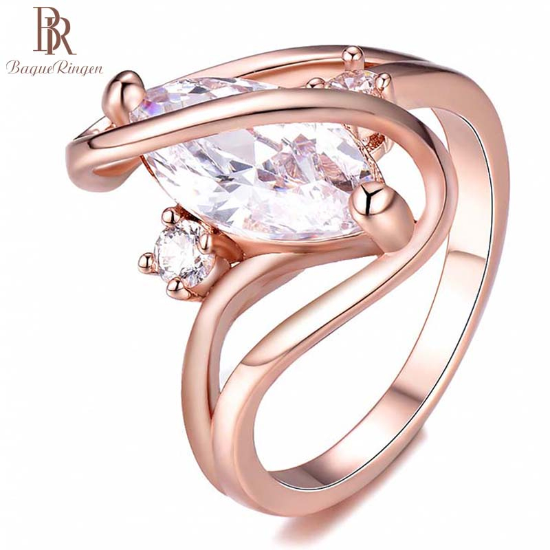 Bague Ringen 925 Sterling Silver Female Ring  Cubic Zirconia Ring Geometric Shaped Luxury Jewelry Women Wedding Party