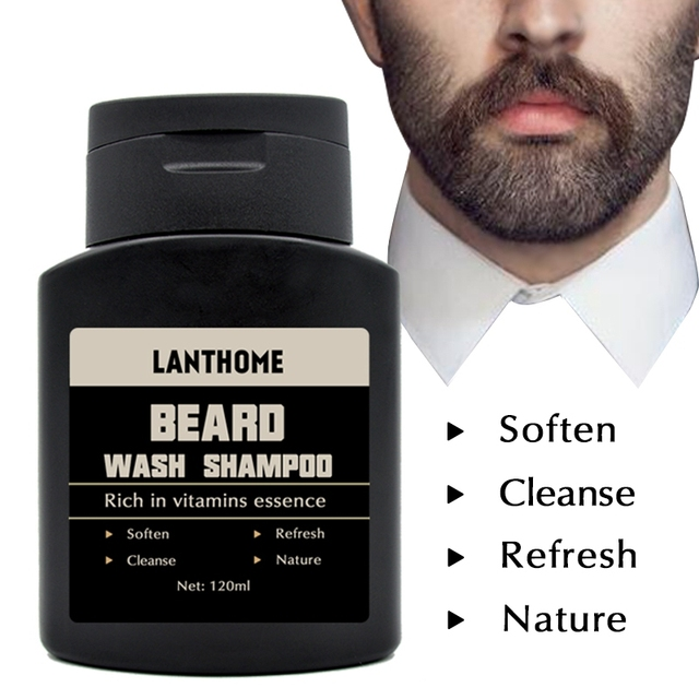 Lanthome Vitamin Wash Shampoo Hair Beard Care Men'S Gift Beard Assistance Machine Moisturiser Deep Cleansing Beard Beard Shampoo 6
