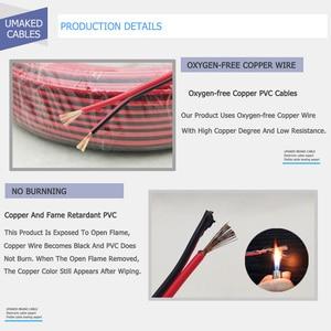 Image 3 - 150m cavo LED 16AWG filo Elettrico cavi UL2468 300V rame Rosso nero prolungare RVB filo Per La Striscia del LED isolati IN PVC filo da DHL