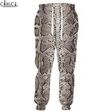Men Pants Trousers Snakeskin Animal CLOOCL Casual Gym Hip-Hop Unisex Elastic-Band 3d-Print