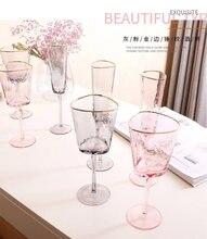 Стеклянный бокал для вина с зернистой текстурой Пномпеня прозрачный