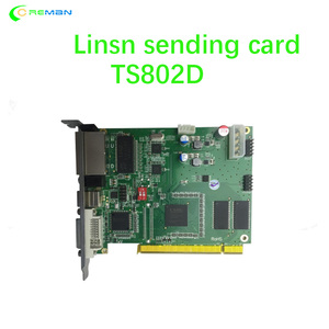 Image 1 - Best selling LINSN sending card TS802D for full color video led display parts controller system