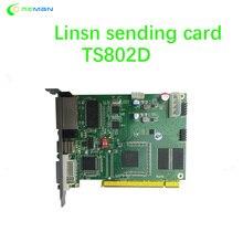En çok satan LINSN gönderme kartı TS802D tam renkli video ledli ekran parçaları kontrol sistemi