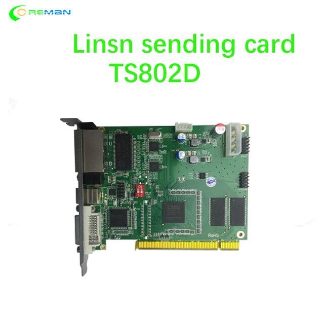 Лучшая продажа LINSN отправка карты TS802D для полноцветного видео, светодиодный дисплей, детали контроллера системы