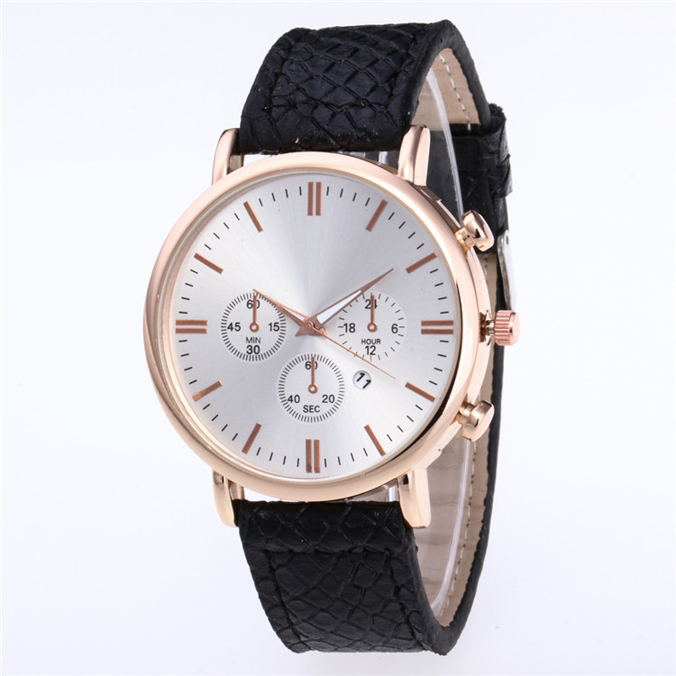 Fashion Watch Fashion Star Design Fashion Personality False Eye Belt Calendar Multicolor Dial Quartz Watch