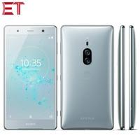 Original sony xperia xz2 premium h8166 duplo sim 4g telefone móvel 6 gb + 64 gb snapdragon845 octa core 5.8