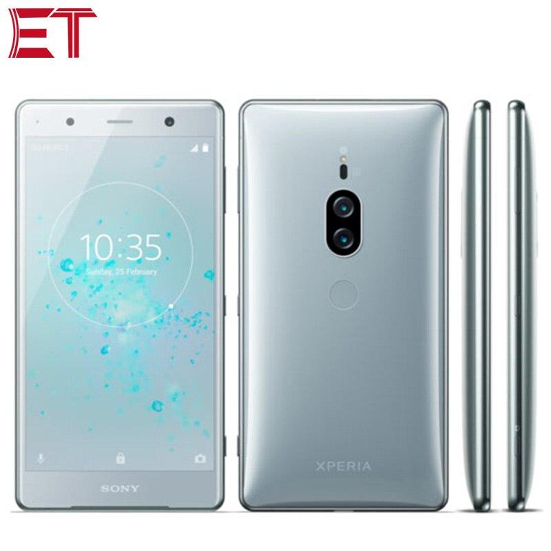 Oryginalny SONY Xperia XZ2 Premium H8166 Dual SIM 4G telefon komórkowy 6GB + 64GB Snapdragon845 Octa Core 5.8