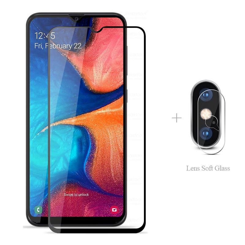 Full Cover Tempered <font><b>Glass</b></font> + Camera Protector For <font><b>Samsung</b></font> <font><b>Galaxy</b></font> M10 M20 <font><b>M</b></font> 10 <font><b>20</b></font> 105F 205F SM M105F M205F <font><b>Glass</b></font> Film image