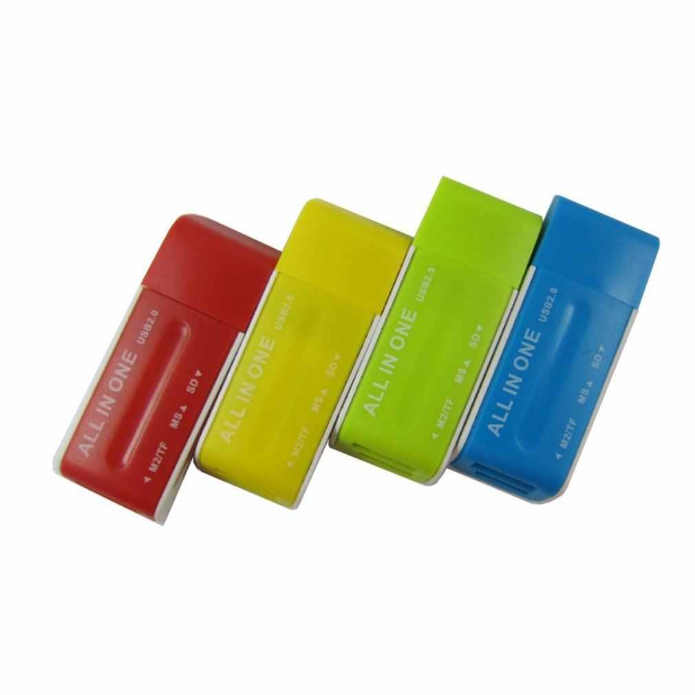 USB 2.0 الذاكرة متعددة فلاش محوّل قارئ البطاقات ل SD TF M2 MS بالجملة