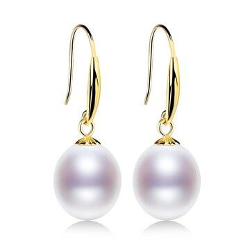 18K Gold Pearl Drop Earrings Jewelry Pearl Jewelry