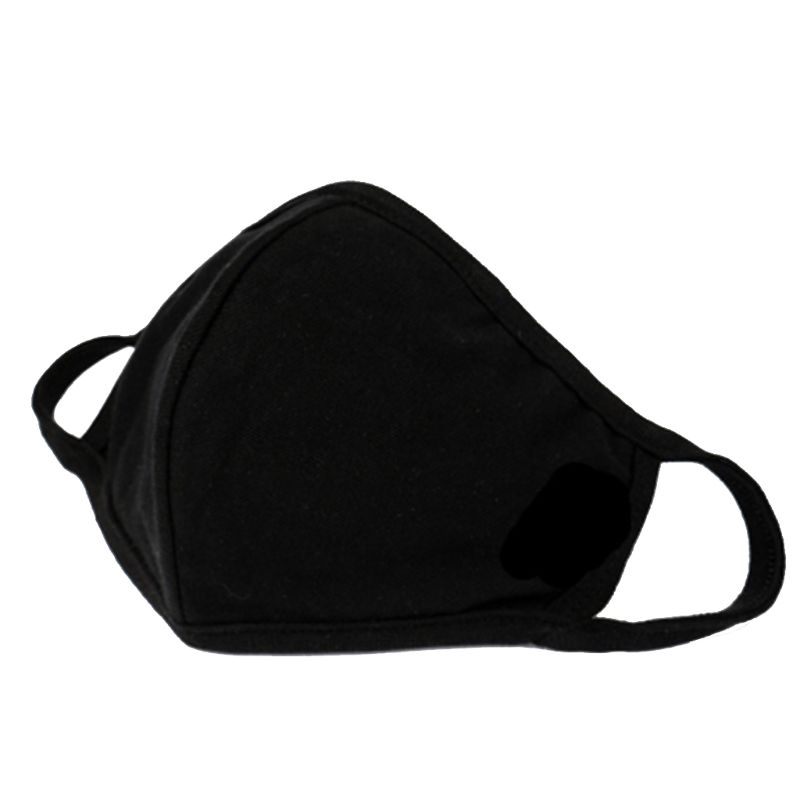 3pcs Fashion Anti-dust Breathable Protective Face Masks Unisex Black Washable
