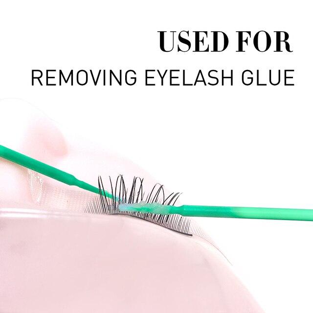 100pcs/Pack Durable Disposable Micro Make Up Brushes Eyelash Extension Eye Lash Glue Brush Micro applicators Sticks Makeup Tools 2