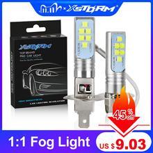 Bombilla LED superbrillante para coche, luces antiniebla de coche, 12V, 24V, 6000K, blanco, 2 uds., H1 H3, 12 3535SMD