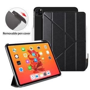 Funda para iPad Pro 11 2020 con portalápices, funda con soporte para iPad Pro de 11 pulgadas y 2020, funda inteligente magnética para Auto Sleep / Wake