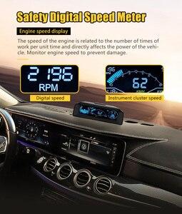 Image 2 - Autool X90 カー hud ヘッドアップディスプレイ obd ii ゲージエレクトロニクス OBD2 スピードメーターチルトピッチ角分度器緯度経度