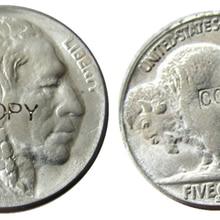 US 1924S с гравировкой в виде американского бисона из никеля пять центов копия декоративной монеты