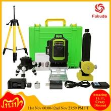 Fukuda 4D laser level 16 linien green laser level Automatische Selbst Nivellierung 360 Vertikale und Horizontale Tilt & Outdoor Modus