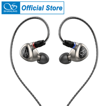 SHANLING auriculares internos ME80 Hi Res, con controlador dinámico Dual, 24 núcleos, OFC, MMCX, Cable desmontable, carcasa de aleación de aluminio