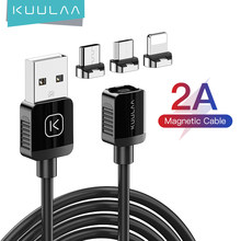 KUULAA Magnetic Charging Cable USB Charger Cord Micro Type C Fast Charge Cable For iPhone Xiaomi Mobile Phone Magnet USBC Wire