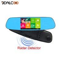 Dealcoo Car DVR Mirror Recorder Dashcam Mirror DVR 3 In 1 Registrar Radar Detector Car Camera Android Mirror Dual Lens Dash Cam
