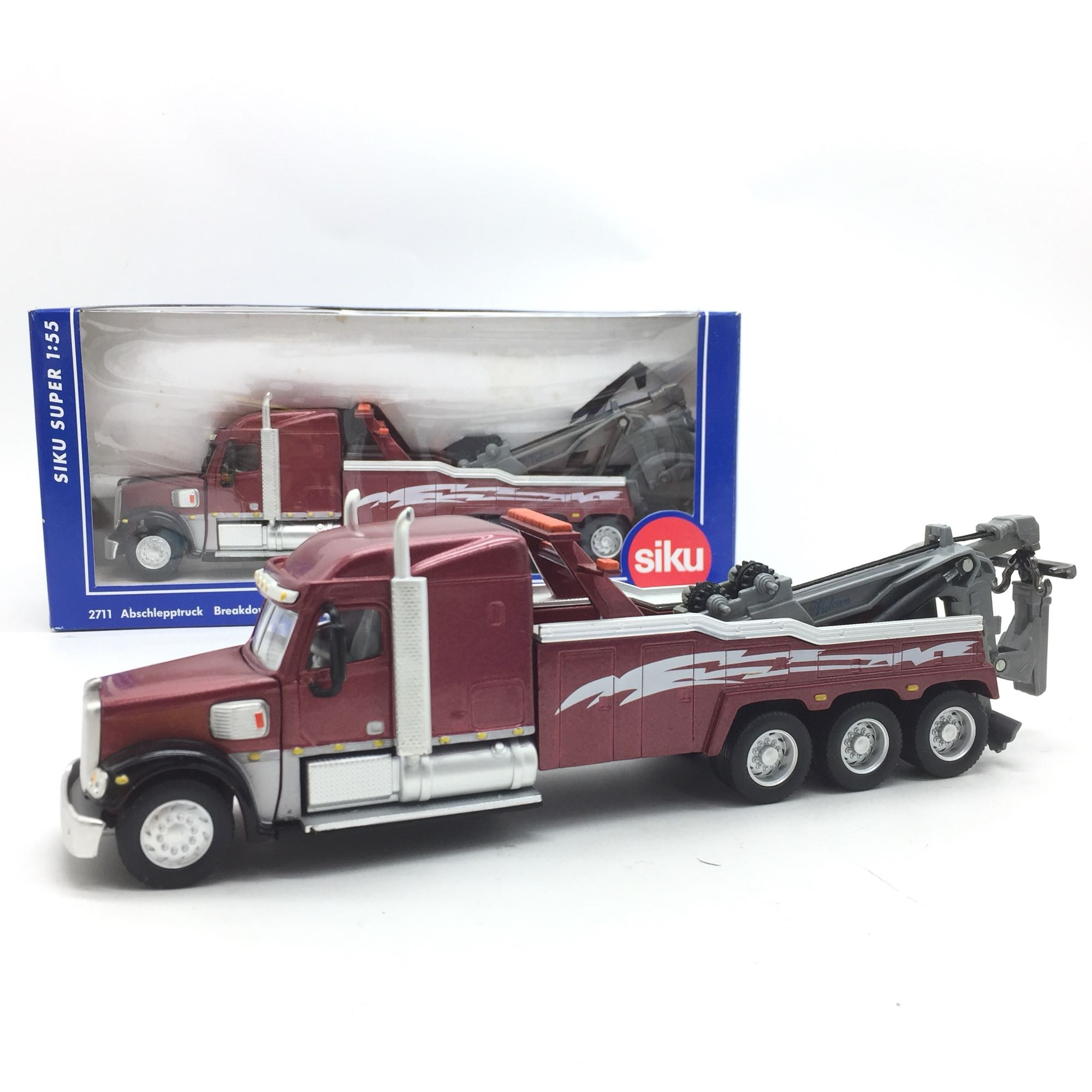 1/55 23cm Old Truck Freightliner Heavy Duty Trailer Alloy Truck Diecast Vehicle Model Collection Of Transport Traffic Tools Show