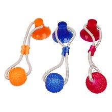 Игрушки для домашних животных с присоской, игрушка для собак с шариком TPR, чистка зубов, жевательные резиновые игрушки для собак для маленьких собак, резиновая игрушка для собак