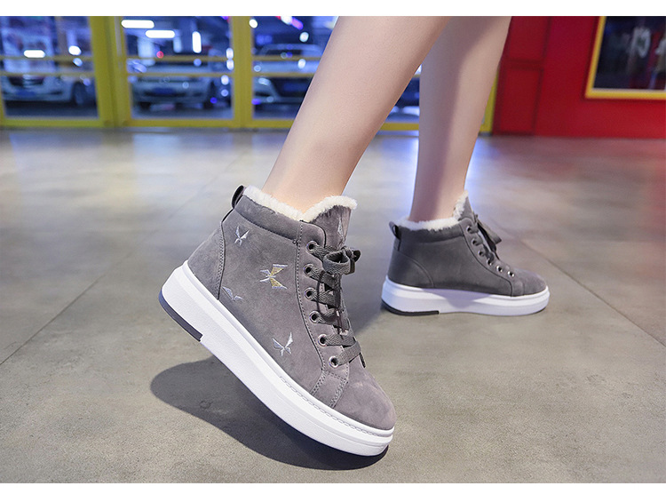 Cotton Shoes Female New Women's Boots Winter Plus Velvet Cotton Shoes Thick Soled Warm Snow Women's Boots Women's Cotton Boots 43