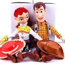 2019 Toy Story 4 Talking Jessie Woody PVC Action Toy Figurines Model Toy Kids Birthday Gift Collectible Doll for chindren disney pixar toy story 15 inch talking woody jessie pvc cartoon action figure collectible model toy doll for kids gift with box
