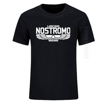 Nostromo-Camiseta estampada de algodón para hombre, Camiseta con cuello redondo de Alien...