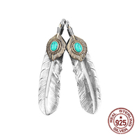 S925 sterling silver pendant personalized fashion classic ethnic style flying eagle feather shape to send gifts for lovers hot