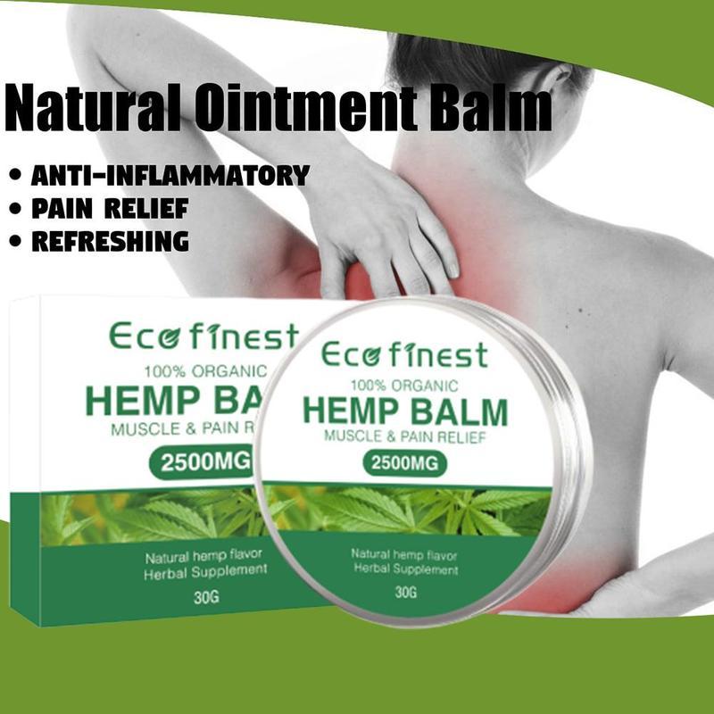 30ML Hanf Creme für Schmerzen Relief Arthritis Zurück Joint Muscle Hanf Öl Extrakt Beruhigen Hanf Balsam Massage Creme 2500mg CBD Enthält