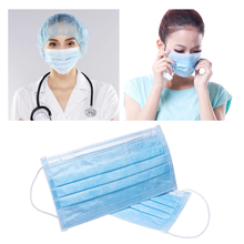 100Pcs/Pack 3-Ply PM2.5 Nonwoven Disposable Elastic Mouth Soft Breathable Flu Hygiene Face Masks Fast Shipping Within 24 Hours
