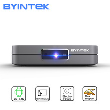 Byintek U20フルhd 1080p 3D 4 18k androidスマート無線lanポータブルミニled dlpプロジェクター用スマートフォン
