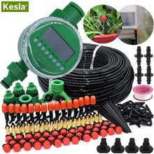 KESLA 5M-50M Automatic Garden Watering System Kit Timer Controller DIY Garden Micro Drip Irrigation Misting Spray Cooling System cheap KSL01-KIT075 Plastic Watering Kits Drip Irrigation Watering System Kits for Watering Flower Bed Lawn in Garden Balcony
