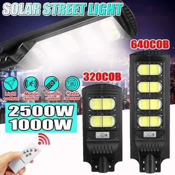 500W 1000W 1500W 2500W COB Led Solar Street light pir motion sensor outdoor Lighting Wall Lamps flood light Timming control 1