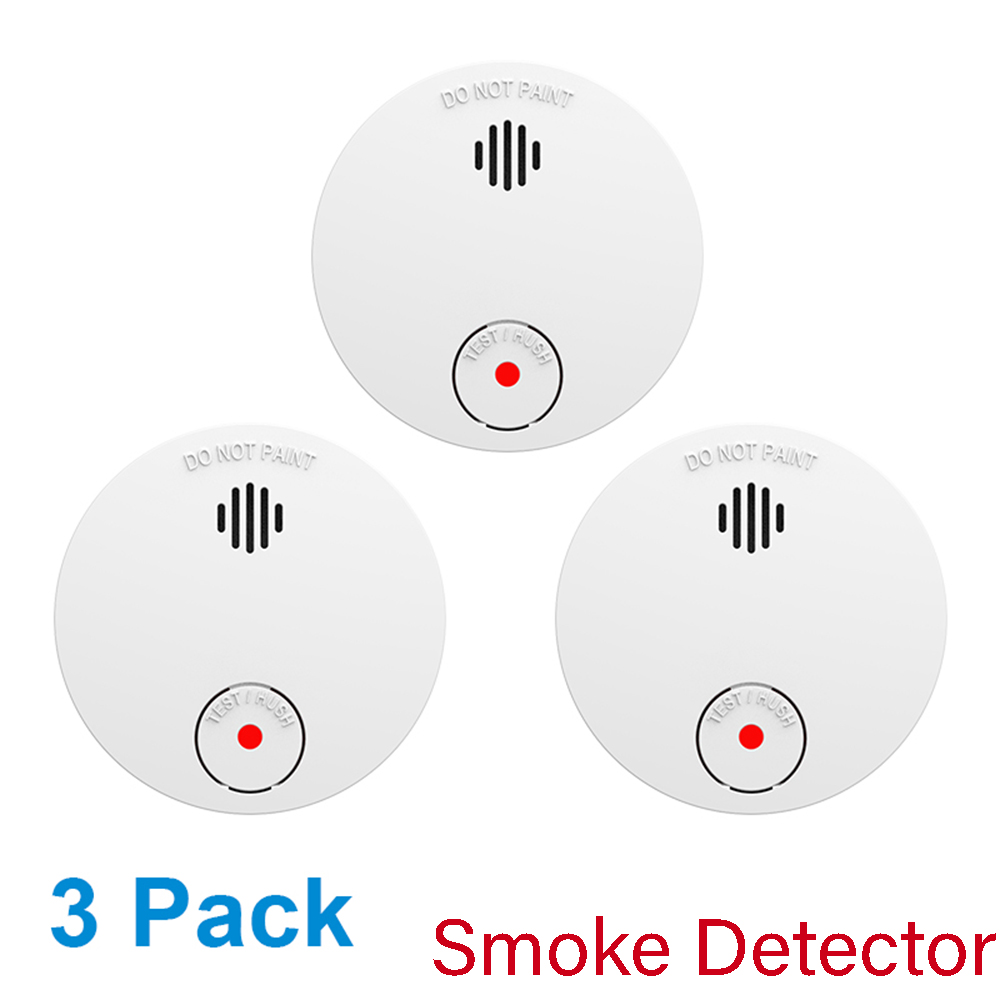CPVan 3pcs/Lot Smoke Detector 10 Year Battery CE EN14604 Wireless Fire Alarm Smoke Alarm Detector De Humo Fire Alarm Rookmelder