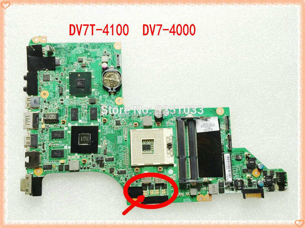 605321 001 DA0LX6MB6H1 for HP PAVILION DV7T 4100 NOTEBOOK  DV7 4000 laptop motherboard 100% Tested 60 days warranty|laptop motherboard|laptop motherboard hp|motherboard motherboard - title=