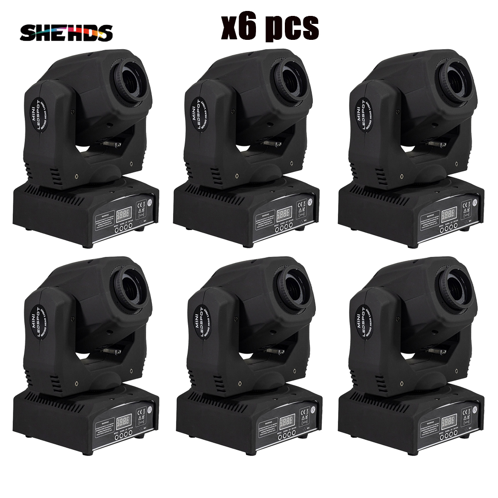 SHEHDS 6 Pcs Spot 60W LED Moving Head Light With Gobos High Brightness DMX512 DMX 9/11 Channels Professional Led Stage Light|moving head light|led moving head light|stage light - title=