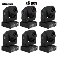 SHEHDS 6 Pcs Spot 60W LED Moving Head Light With Gobos High Brightness DMX512 DMX 9/11 Channels Professional Led Stage Light