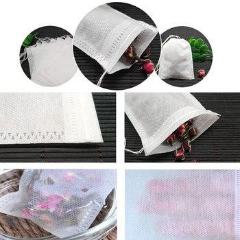 250 шт./лот чайные пакетики пустые ароматизированные чайные пакетики со струнами уплотнительный фильтр многоразовый чайный пакетик для трав...