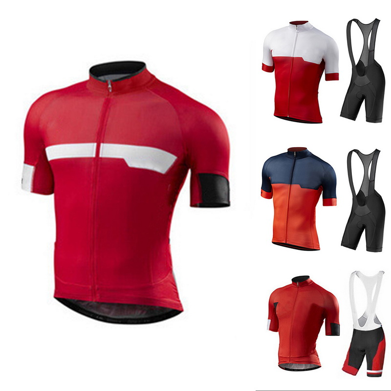 Short Sleeve Patchwork Cycling Clothing Bike Jersey Sets Mens Summer Breathable Cycling Jerseys With Gel Pad Bike Shorts