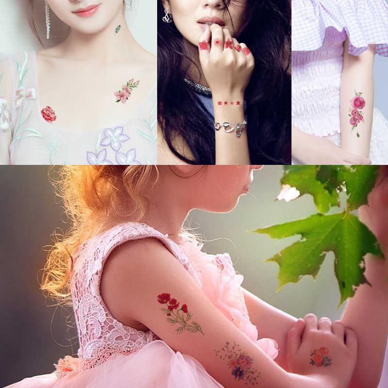 Kleine Tijdelijke Tattoo Bloem Ontwerp Arm Terug Voet Art Decal voor Vrouwen Mode Waterdichte Bar Dancing Body Make-Up Tattoo Sticker
