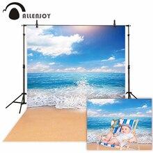 Allenjoy photophone kulissen Sommer himmel meer strand ozean wellen Natürliche landschaft sand fotografischen hintergrund photo photobooth