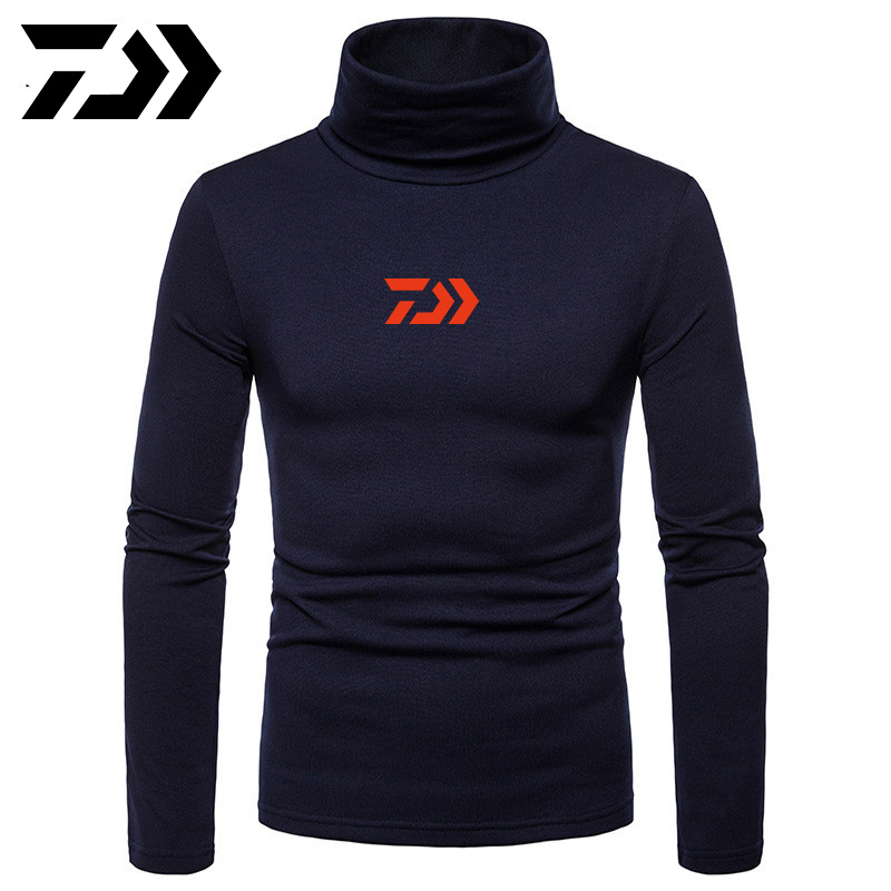 Daiwa Fishing Turtle Neck Skivvy Turtleneck Sweaters Stretch Shirt Tops Men Casual Winter Top Clothing Sweaters Keep Warm