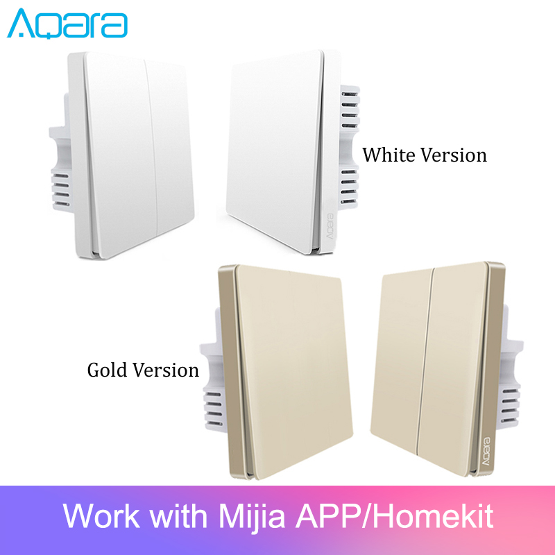 Original Aqara Switch Wall Device Smart Light Switch Remote Control Single Fire/Zero Line ZigBee For Mijia Mi Home GoldSmart Remote Control   -