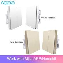 Original Aqara Switch Wall Device Smart Light Switch Remote Control Single Fire/Zero Line ZigBee For Mijia Mi Home Gold