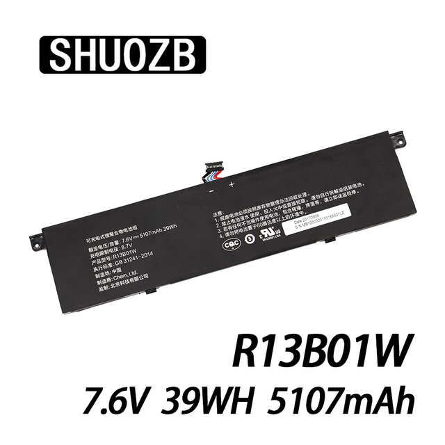 $ US $23.65 New R13B01W Laptop Battery For Xiaomi Mi Air 13.3