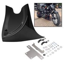 Motosiklet evrensel düşük çene Fairing ön Spoiler için Harley Sportster Fatboy 883 1200XL Softai V ROD Touring Glide siyah